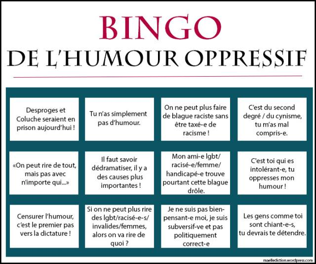 *( Féminisme bingo humour
