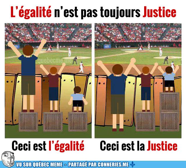 *( Justice - égalité