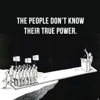 Le peuple ne voit pas son vrai pouvoir