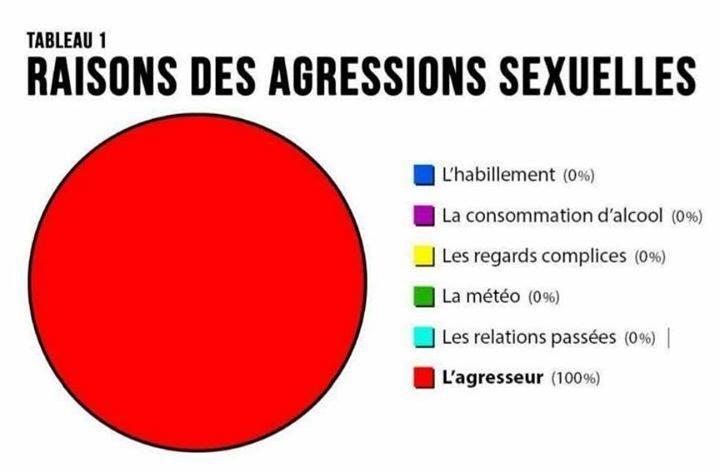 *( Raisons des agressions sexuelles