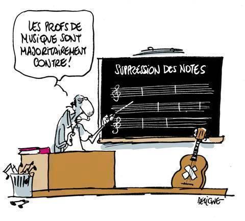 *( Suppression des notes