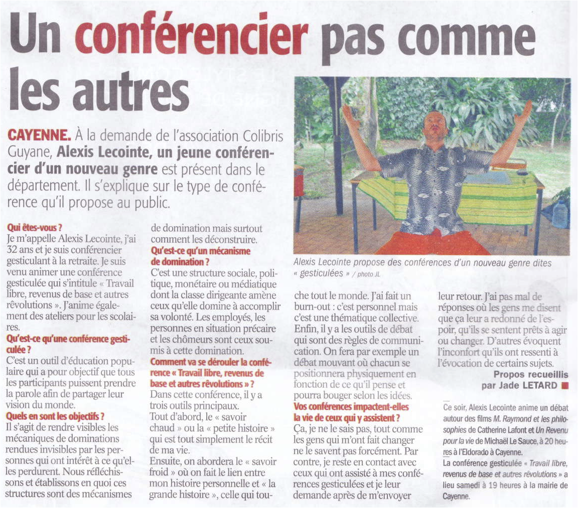2016.06.09 - Article conf Alexis - France Guyane